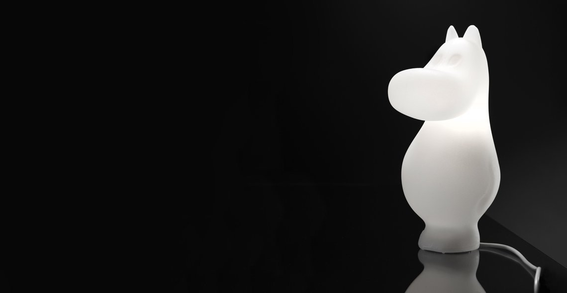 Pöytävalaisin Moomin Light Muumipeikko M, 50cm